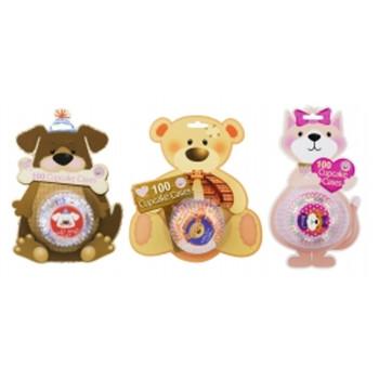 100 Pack Cupcake Cases - Animal Design