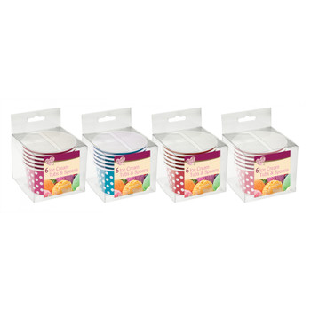 Pack of 6 Disposable Ice-Cream Cups with Spoons