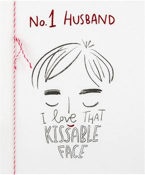 Valentine Card for Husband Embossed Design