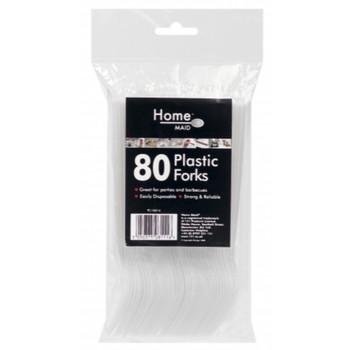 80 Pack Disposable Plastic Forks