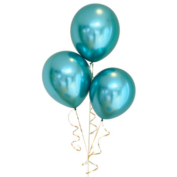 "Bag of 50 Metallic Green Colour 12"" Latex Balloons"