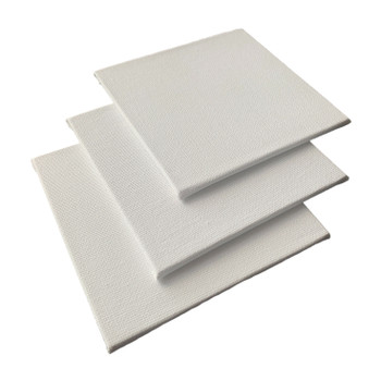 Pack of 10 10x10cm Blank White Flat Stretched Board Art Canvases By Janrax
