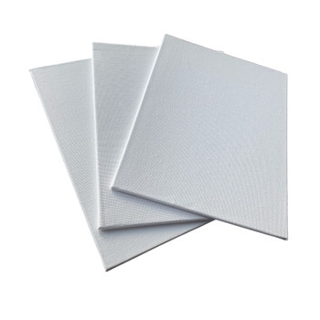 Pack of 10 15x20cm Blank White Flat Stretched Board Art Canvases By Janrax