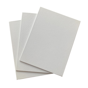 Pack of 10 18x24cm Blank White Flat Stretched Board Art Canvases By Janrax