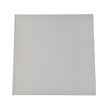 Pack of 10 20x20cm Blank White Flat Stretched Board Art Canvases By Janrax