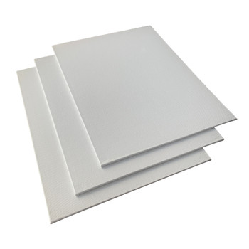 Pack of 10 24x30cm Blank White Flat Stretched Board Art Canvases By Janrax