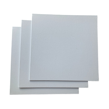Pack of 10 30x30cm Blank White Flat Stretched Board Art Canvases By Janrax
