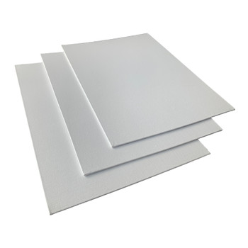 Pack of 10 30x40cm Blank White Flat Stretched Board Art Canvases By Janrax