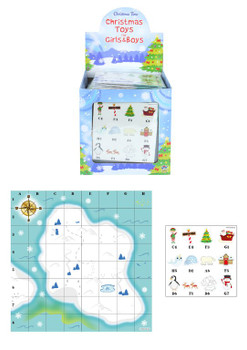 Pack of 96 Christmas Treasure Map Games