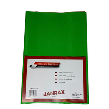 Pack of 10 A4 Frosted Green Exercise Book Covers