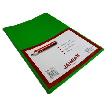 Pack of 50 A4 Frosted Green Exercise Book Covers