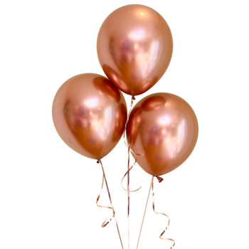 "Bag of 50 Metallic Rose Gold Colour 12"" Latex Balloons"
