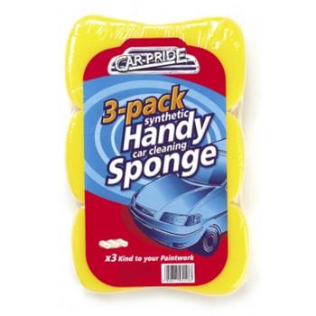 Pack of 3 Handy Car Cleaning Sponges, Car Pride