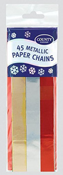 45 Metallic Paper Chains