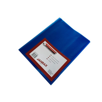 """Pack of 50 9x7"""" Frosted Blue Exercise Book Covers"""