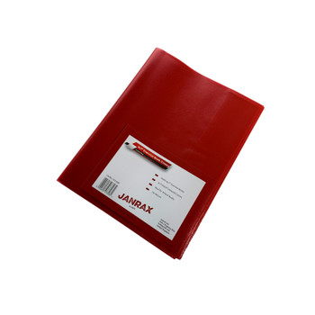 """Pack of 50 9x7"""" Frosted Red Exercise Book Covers"""