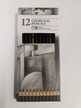 Pack of 12 Chiltern Arts Charcoal Pencils