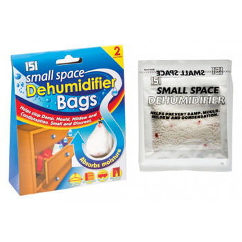Pack of 2 Small Space Dehumidifier Bags 36gm