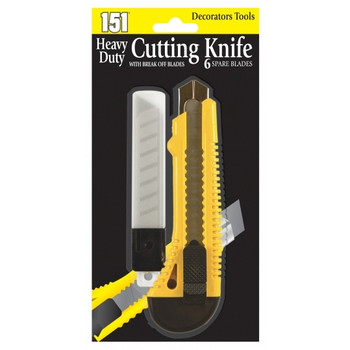 Heavy Duty Cutting Knifewith Break of Blades and 6 Spare Blades