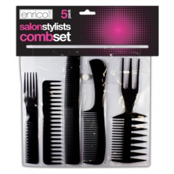 Pack Of 5 Salon Stylists Hair Comb Set