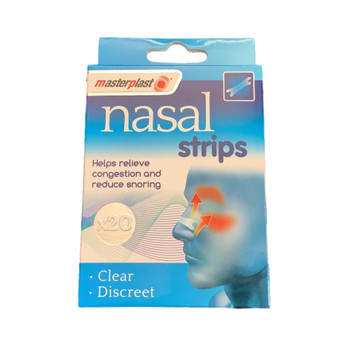 Pack of 20 Masterplast Nose Plasters - Clear & Discreet