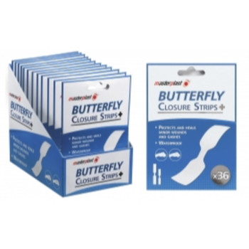Pack of 36 Butterfly Closure Strips