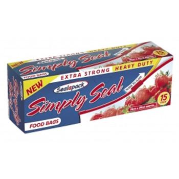 Simply Seal Food Bags 15pk - 18cm x 20cm