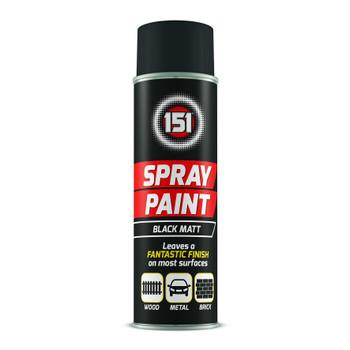 151 Black Matt 250ml Spray Paint