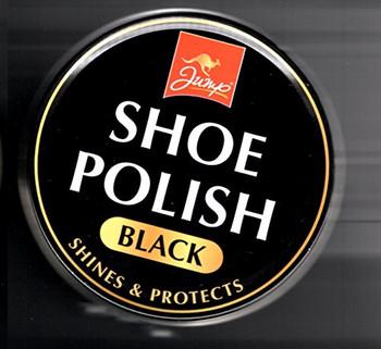 Jump Shoe / Boot Polish Tin 80G Black Polish Shine and Protect