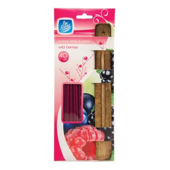 Pack of 40 Pan Aroma Wild Berries Incense Sticks & Holder