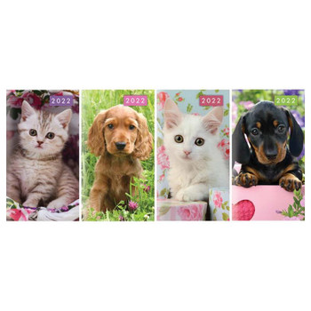 2022 Slim Two Week To View Kittens & Puppies Design Diary