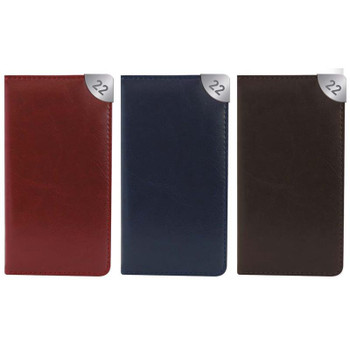 2022 Slim Week To View Leatherette Textured Design Diary