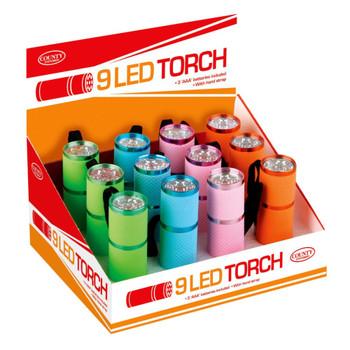9 LED Metal Grip Torch