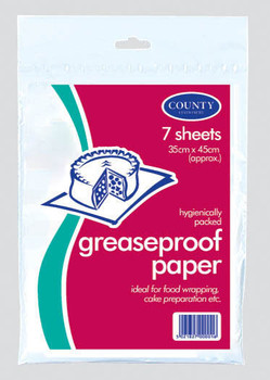 Pack of 7 Grease-Proof Paper Sheets