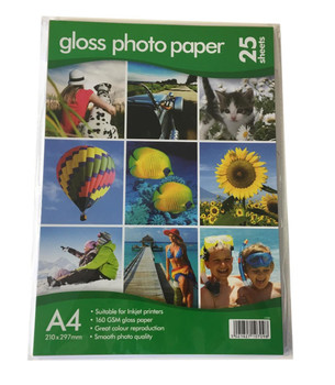 25 A4 Gloss Photo Paper 160gsm