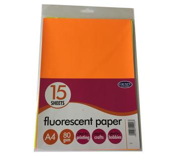 15 Fluorescent Paper Pack 80gsm