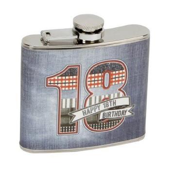 Laura Darrington Denim Collection 18thBirthday Hipflask (LD12418)