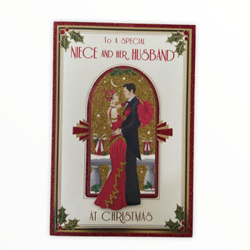 To a Special Niece And Her Husband Beautiful Couple Christams Card