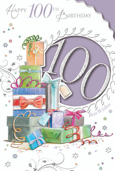 Best Wishes On 100th Birthday Gifts Design Open Celebrity Style Card