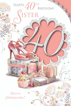 Happy 30th Birthday Sister Fabulous Design Celebrity Style Card