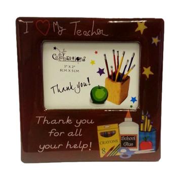 """Magnetic  Photo Frame """"I Love My Teacher"""""""