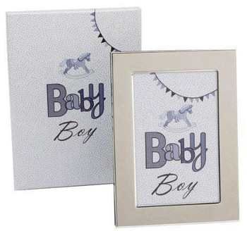 "Laura Darrington Typography Coll S/P Frame Baby Boy 4""x6"""