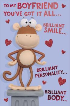 """""""Boyfriend"""" Valentine's day Humour Card"""