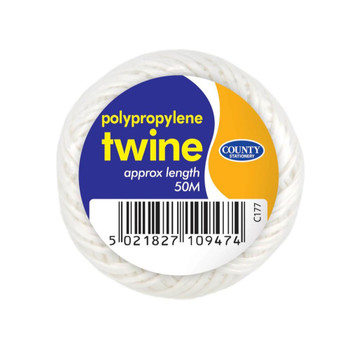 Box of 10 Poly Twine 50m Ball Assorted Colours