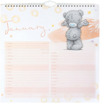 2022 Month To View Classic Tatty Teddy Bear Square Flip Wall Calendar