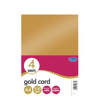4 A4 Gold Card 270gsm