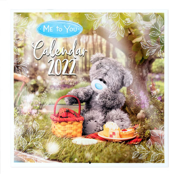 2022 Month To View Tatty Teddy Bear Photo Finish Square Wall Calendar