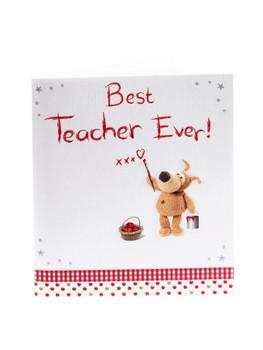 Boofle Best Teacher Ever Teacher Appreciation Card Thank You