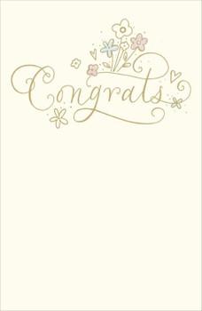 Gold Congrats Congratulation Greeting Card