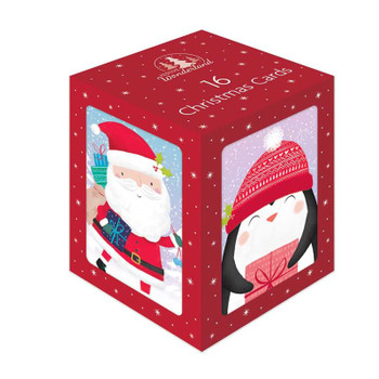 Box of 16 Cute Character Design Christmas Cards